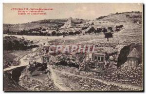 Ansichtskarte AK Jerusalem vallee De Josaphat
