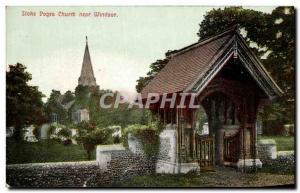 Ansichtskarte AK Stoke Poges Church near Windsor