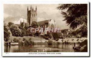 Ansichtskarte AK Worcester Cathedral From River Severn