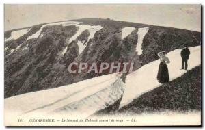 Ansichtskarte AK Gerardmer Le Sommet du Hohneck Couvert de Neige