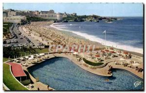 Ansichtskarte AK Biarritz la grande Plage et le Casino Bellevue