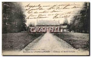 Ansichtskarte AK Environs de Lyons la Foret Chateau de Saint Crespin