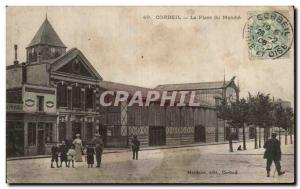 Ansichtskarte AK Corbeil La Place du Marche