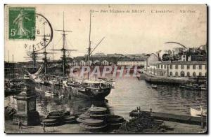 Ansichtskarte AK Brest Port Militaire de L Avant Port Bateau Voilier