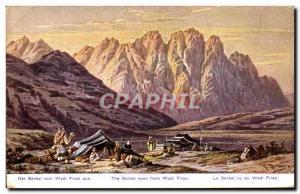 Ansichtskarte AK The serbal Seen From Wadi Firan