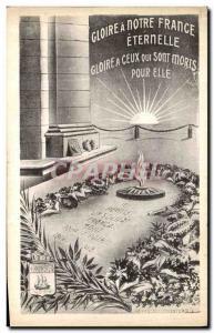 Ansichtskarte AK Gloire a Notre France Eternelle Militaria Soldat inconnu Paris