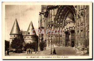Ansichtskarte AK Beauvais La Cathedrale et le Palais de Justice