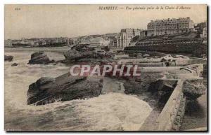 Ansichtskarte AK Biarritz Vue Generale Prise de La Cloche d Alarme