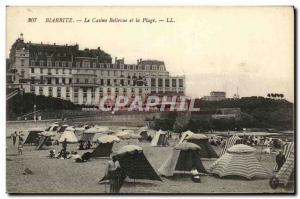 Ansichtskarte AK Biarritz Le Casino Bellevue et La Plage