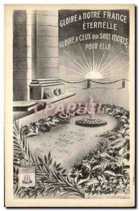 Ansichtskarte AK Gloire Notre France Eternelle Militaria