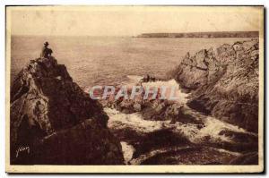 Ansichtskarte AK La Pointe du raz Finistere Baie des Trepasses et pointe du Van