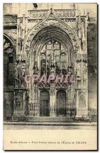 Ansichtskarte AK Thann Pelit Portail Lateral de L Eglise
