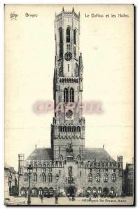 Ansichtskarte AK Bruges Le Beffroi et les Halles