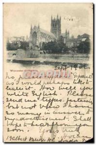 Ansichtskarte AK Worcester Cathedrale