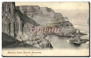 Ansichtskarte AK Pleaskin head Giant s Causeway