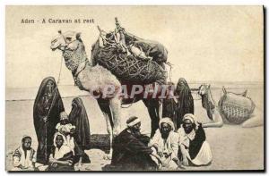 Ansichtskarte AK Aden A caravan at rest Chameau