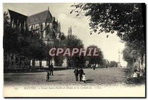 Ansichtskarte AK Nantes Cours Saint Pierre Et Abdise De La Cathedrale