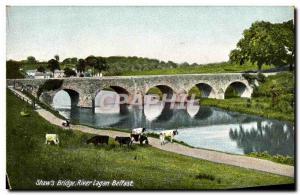 Ansichtskarte AK Shaw's Bridge River London Belfast