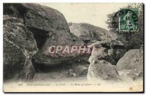 Ansichtskarte AK Fontainebleau La Foret La Roche qui Pleure