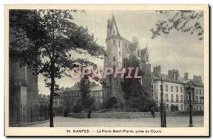 Ansichtskarte AK Nantes La Porte Saint Pierre Prise Du Cours