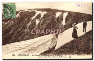 Ansichtskarte AK Gerardmer le sommet du hohneck couvert de neige ancienne frontiere