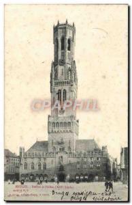 Ansichtskarte AK Bruges Beffroi et halles