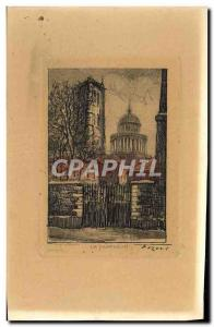 Dessin grav� Paris Le pantheon