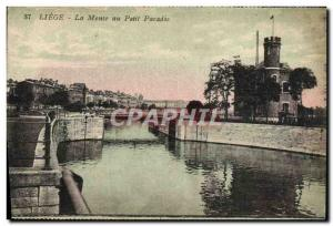 Ansichtskarte AK Liege La Meuse au Petit Paradis