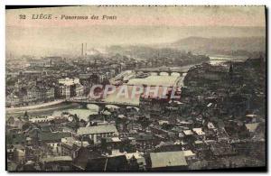 Ansichtskarte AK Liege Panorama Des Ponts