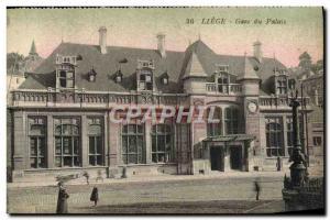 Ansichtskarte AK Liege Gare Du Palais