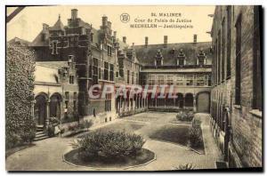 Ansichtskarte AK Malines Cour Du Palais De Justice