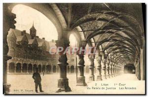 Ansichtskarte AK Lieze Cour Du Palais De Justice Les Arcades