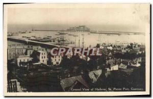Ansichtskarte AK General view of Harbour St Peters Port Guernsey