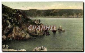 Ansichtskarte AK Guernsey Saitns Bay Bog and lion rocks