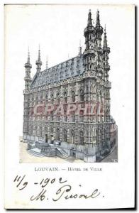 Ansichtskarte AK Louvain Hotel De Ville