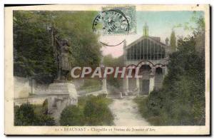 Ansichtskarte AK Beaunant Chapelle Et Statue De Jeanne d'Arc