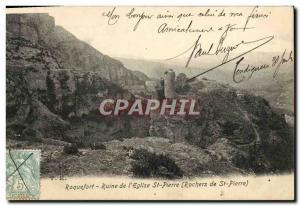 Ansichtskarte AK Roquedort Ruine de L'Eglise St Pierre Rochers de St Pierre