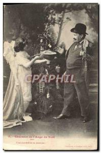 Ansichtskarte AK Fantaisie Ange Cadeaux de l'ange de Noel