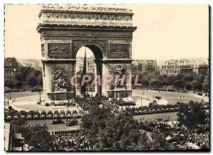 Moderne Karte Liberation De Paris Visite du General de Gaulle a l'Arc de Triomphe Militaria