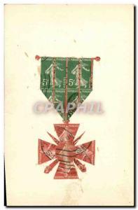 Ansichtskarte AK Timbres Medaille Tymbres Semeuse Militaria