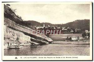 Ansichtskarte AK Lac ou Villers Entree des Bassins du Doubs et les Brenets