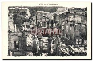 Ansichtskarte AK Verdun Bombarde Militaria