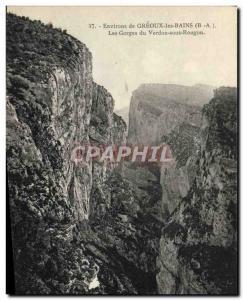 Ansichtskarte AK Environs De Greoux Les Bains Les Gorges Du Verdon sous Rougon