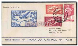 Lettre Azores to New York 23 5 1939