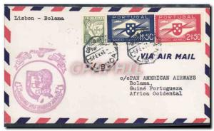 Lettre Portugal Lisbon to Bolaam 6 2 1941