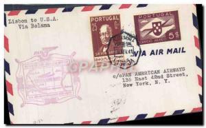 Lettre Portugal Lisbon to New York Bolama 6 2 1941
