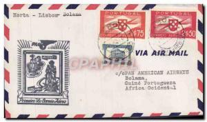 Lettre Portugal Horta Lisbon Bolama 6 2 1941