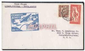 Lettre Portugal Lisbon Horta Azores 26 3 1939