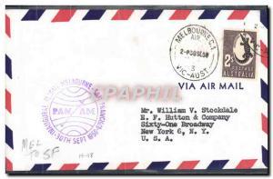 Lettre Australie 1st flight Melbourne San Francisco 30 7 59 Crocodile