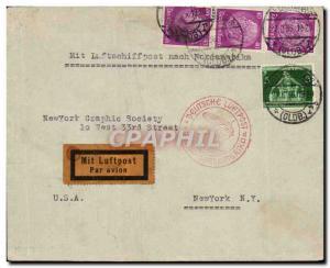 Lettre Zeppelin Europa Nordamerika 27 6 36